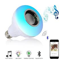 smart l with speaker e27 smart rgb wireless bluetooth speaker bulb music playing dimmable