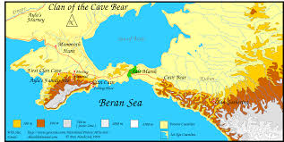 clan of the cave bear travel map english