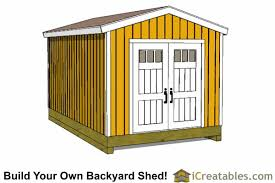 Diy Garden Shed Plans by 10x16 Shed Plans Diy Shed Designs Backyard Lean To U0026 Gambrel