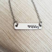 bar necklace personalized name plate bar personalized bar necklace personalize with