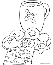 christmas cookie coloring pictures