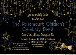 hollywood movie star event invitations celebrity style