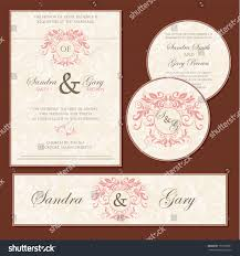 Wedding Invitation Cards With Photos Vintage Floral Wedding Invitation Cards Vector Stock Vector
