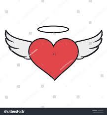 retro heart wings tattoo design stock vector 173236427 shutterstock