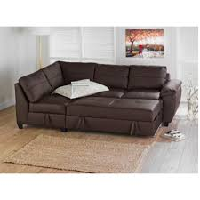 Small Corner Sofa Bed With Storage Fernando Leather Left Hand Sofa Bed Corner Group Chocolate