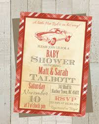 little rod vintage baby shower invite invitation with classic