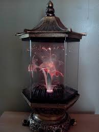 vintage fiber optic flowers lamp rare metal this is the one