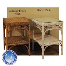 white wicker end table wicker end table indoor square wicker end table