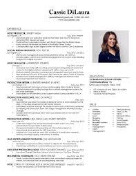 resume cassie dilaura tv host resume objective tv reporter resume sle resume sle