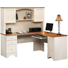 Sauder Harbor View Computer Desk With Hutch Antiqued White Apparently The Half Price One Is Available At Walmart Sauder