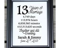 13th anniversary gift 13 years together etsy