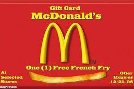 mcdonalds gift card discount mcdonalds gift certificates walmart black friday online shopping