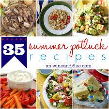summer potluck recipes wine u0026 glue
