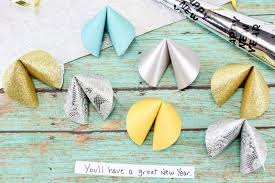 new year s fortune cookies new year s paper fortune cookies craft