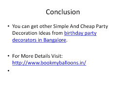 Cheap Party Centerpiece Ideas by 6 Simple And Cheap Party Decoration Ideas