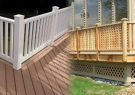 deck designs composite vs pressure treated wood dbs remodel