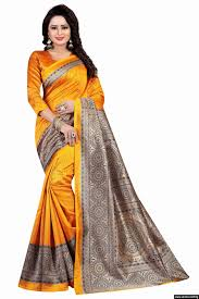 yellow blouse yellow colour wear silk saree with blouse