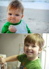 Success Meme Baby - then and now of the day success kid whose real name is sammy