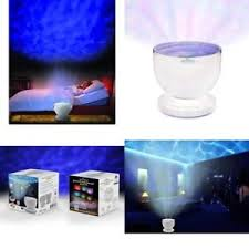 sound machine with light projector ocean sea wave shore color night light projector projection sound