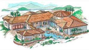 direct from the designers house plans traditional spanish style house plans with interior courtyard