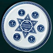 traditional seder plate vintage passover seder plate on background stock image
