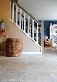 new foyer floor using groutable luxury vinyl tile lowescreator