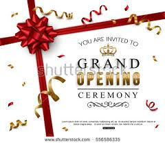 grand opening ribbon grand opening card design ribbon stock vector 556586335