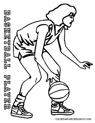 pro basket sports coloring pages girls free printable