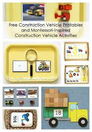 free construction vehicle printables and montessori inspired