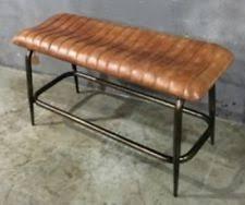 leather bench ebay