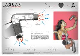 Hair Dryer Jaguar jaguar hairdryer presentation board product design hans ramzan