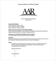 committee report template 14 board report templates free sle exle format