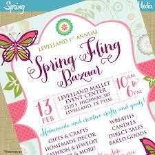 spring fling craft bazaar fair market expo invitation poster