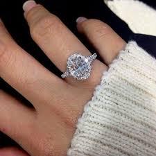 2 carat ring 1 2 carat diamond halo engagement ring in 10k white gold ebay