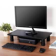 height adjustable computer monitor riser 4 7 u0027 u0027 high 23 6 u0027 u0027 wide