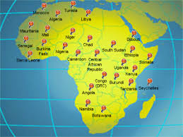 map of africa with country names usinafrica com a look at u s shadow wars in africa