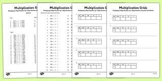 multiplying 4 digit numbers by 1 digit numbers using grid method