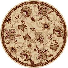 shop home dynamix lisbon ivory gold round indoor woven area rug