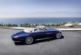 maybach sports car vision mercedes maybach 6 cabriolet electrifies pebble beach