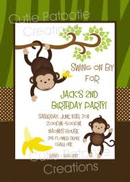 monkey invitations baby shower monkey u0026 jungle animals first boy birthday invitation summer