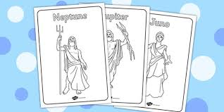 roman gods colouring pages latin
