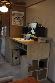 Lifehacker Ikea Standing Desk by The Reconstructed Bookcase Workspace