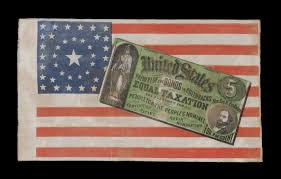 1876 American Flag Historical Presidential Campaign Flags On Display At Benton