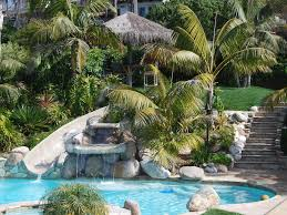 Backyard Pool With Slide Seaside Home With Views Of The Pacific Homeaway Solana Beach