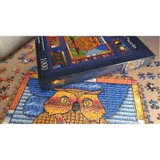 stained glass owl jigsaw puzzle