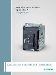 catalog lv 35 air circuit breakers siemens low voltage