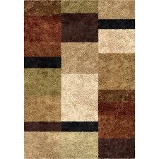 Brown Shag Area Rug by Orian Impressions Shag 3703 Brigim Copper Area Rug