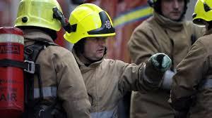 firefighters battle blaze at underground power station