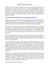Formal Essay Examples Cover Letter Format 3 Paragraphs