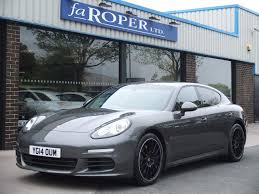 porsche panamera yachting blue used cars bradford second hand cars west yorkshire fa roper ltd